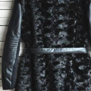 Winter fashion long-sleeved leather..