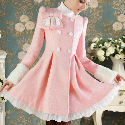 Sweet lace bow flounced jacket AX11..
