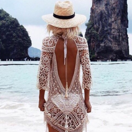 Sexy White Beachwear Dress