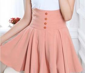 HIGH-WAISTED SKIRT A..