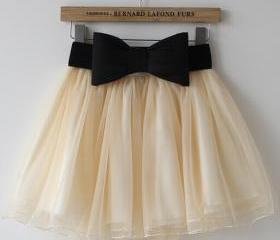 Lace Bow Skirt AX092..