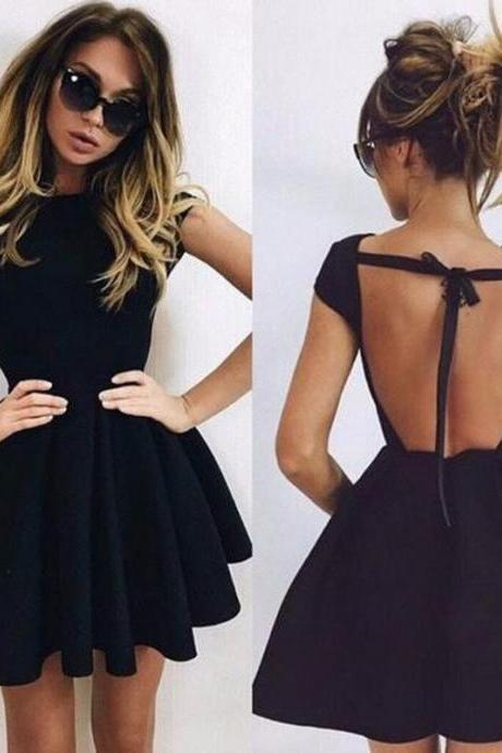 FASHION SEXY BACKLESS DRESS